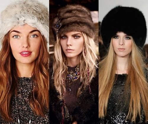 модные шапки зимы 2014
