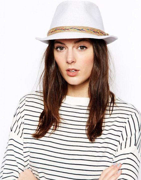 Белая шляпа летняя фото