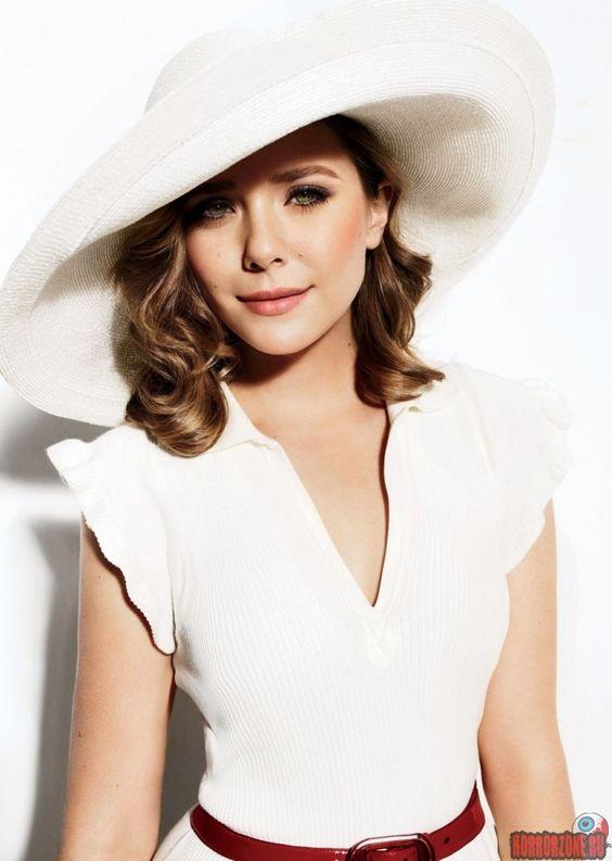 Белая шляпа с полями фото