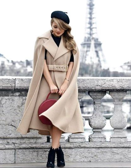 Женский берет под пальто фото