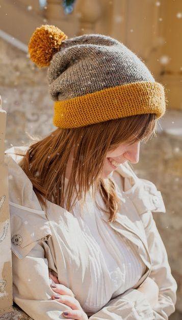 Как носить шапку бини женщинам фото