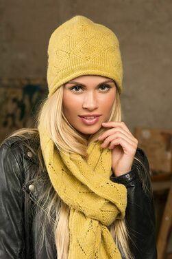 Шапка и шарф женский комплект фото