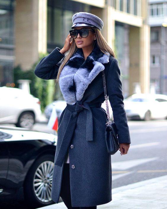 Женские шапки под пальто фото