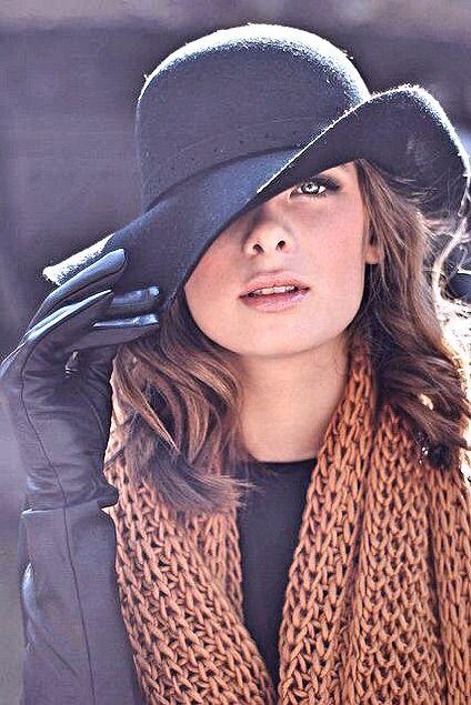 Как подобрать женскую шапку под пальто фото