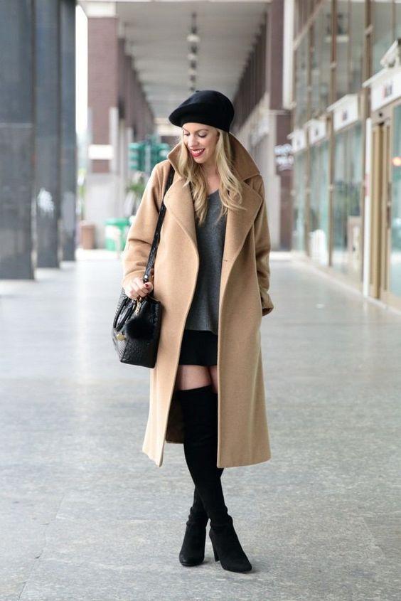Какую шапку носить под пальто фото