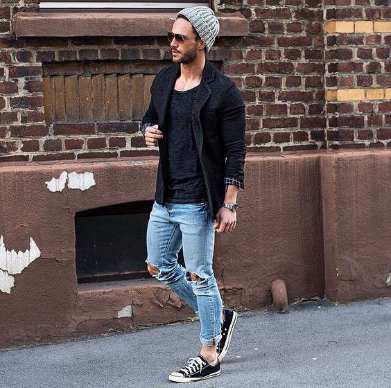 Мужская шапка с пиджаком фото