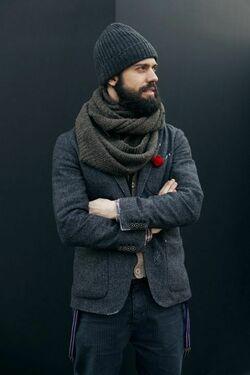 Модные мужские шапки на осень фото