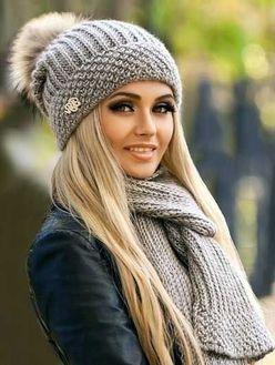 Как выбрать женскую трикотажную шапку на весну фото
