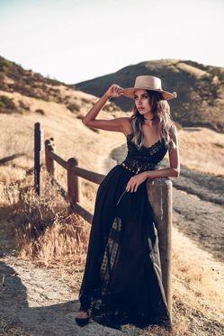 Летняя ковбойская женская шляпа фото