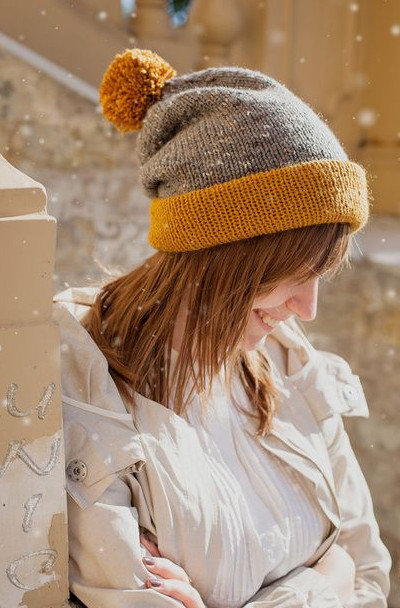 Зимние шапки и женские прически фото