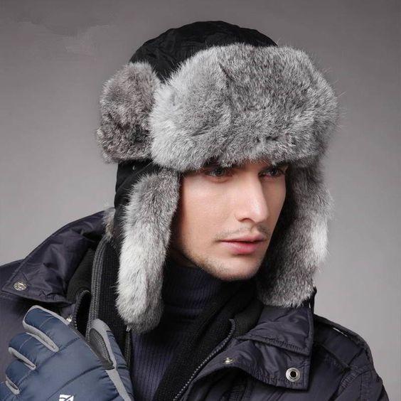 С какой шапкой носить мужской пуховик