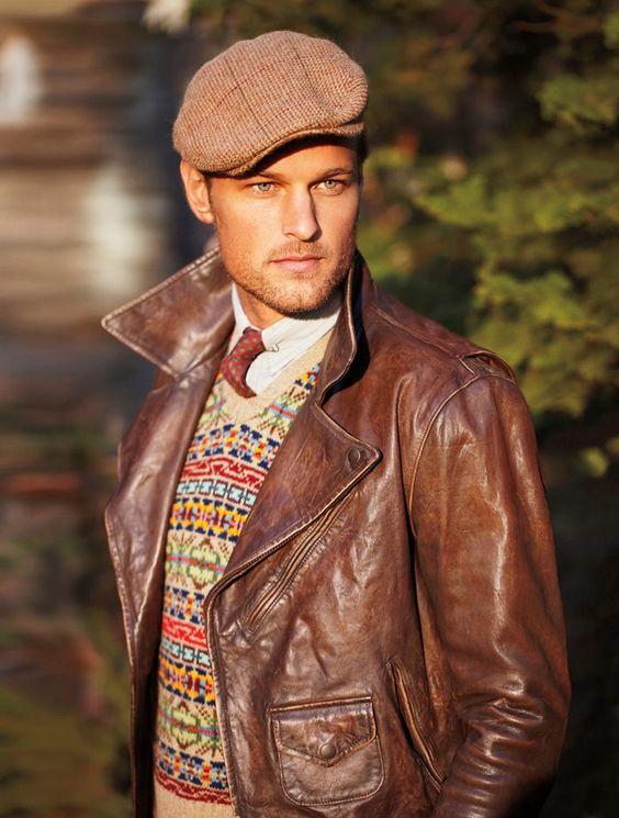 Как подобрать шапку под кожаную куртку мужчине фото