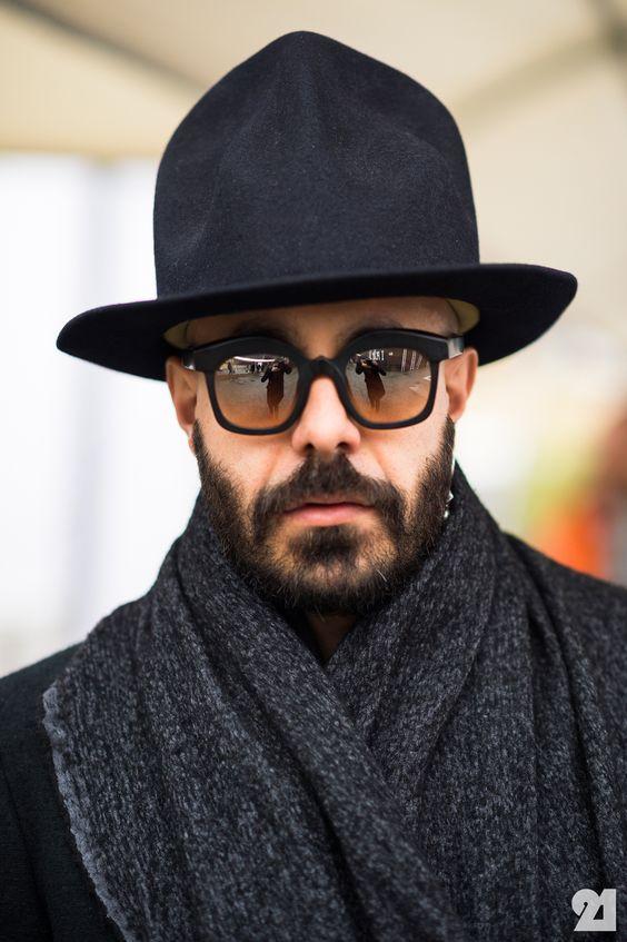 Как подобрать мужскую шапку под очки фото