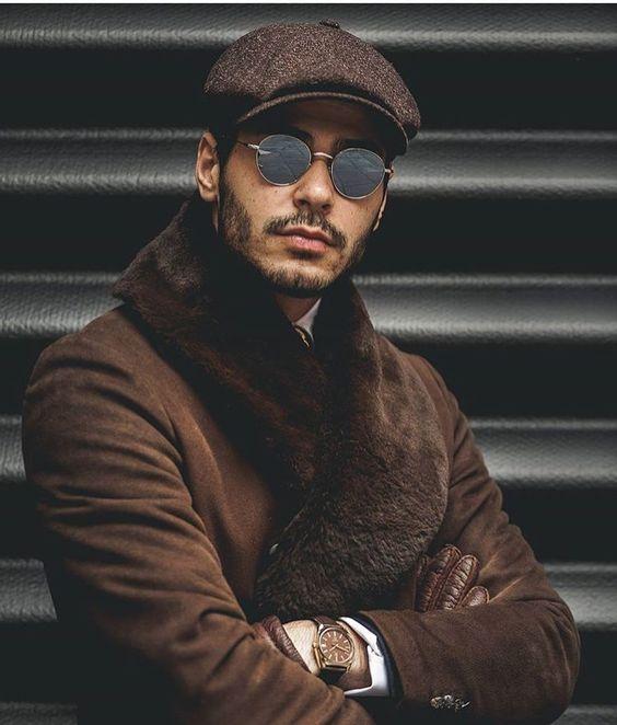 Подобрать мужскую шапку под очки фото