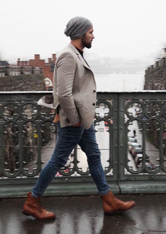 Мужские шапки сочетать с обувью фото