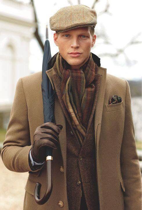 Мужские головные уборы под пальто фото