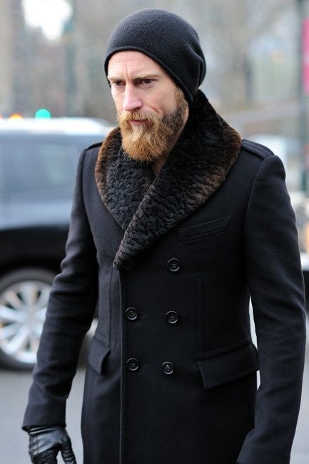 Мужские шапки под пальто фото