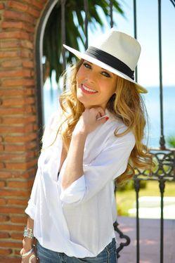 Шляпа летняя женская федора как носить фото