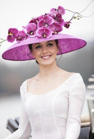 Женские шляпы с цветами фото