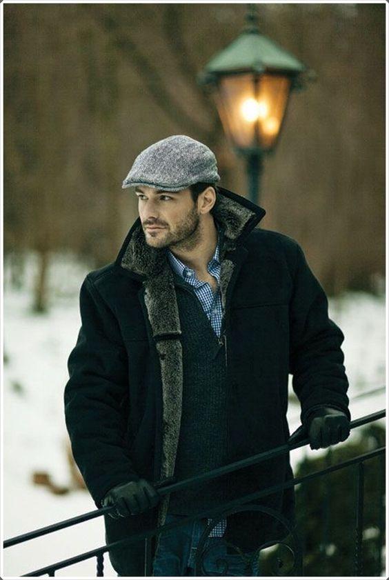 Зимние мужские кепки фото