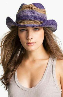 Шляпы женские вязаные фото